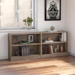 Bush Furniture Universal 2 Shelf Bookcase Set of 2