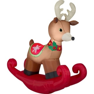 Airblown Inflatables 6 ft. W x 2 ft. D x 6 ft. H Rocking Reindeer