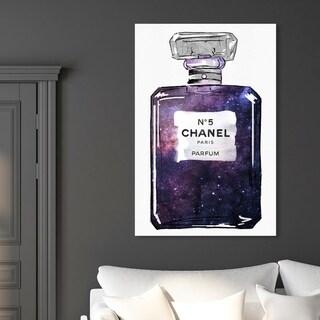 Oliver Gal 'Galaxy to Paris Parfum' Fashion and Glam Wall Art Canvas Print - Purple, White
