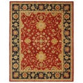 Handmade Oushak Traditional Red Wool Rug (9' x 12')