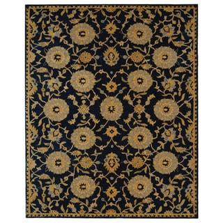 Safavieh Handmade Medallions Navy Wool Rug (9'6 x 13'6)