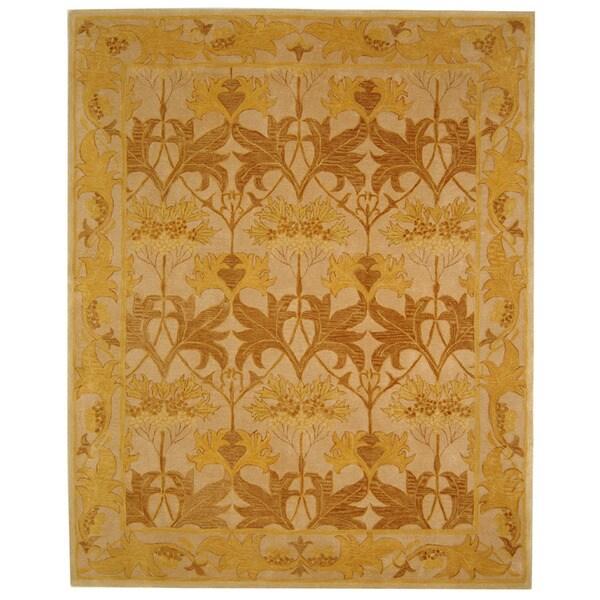 Safavieh Handmade Nomadic Ivory/ Gold Wool Rug (9'6 x 13'6)