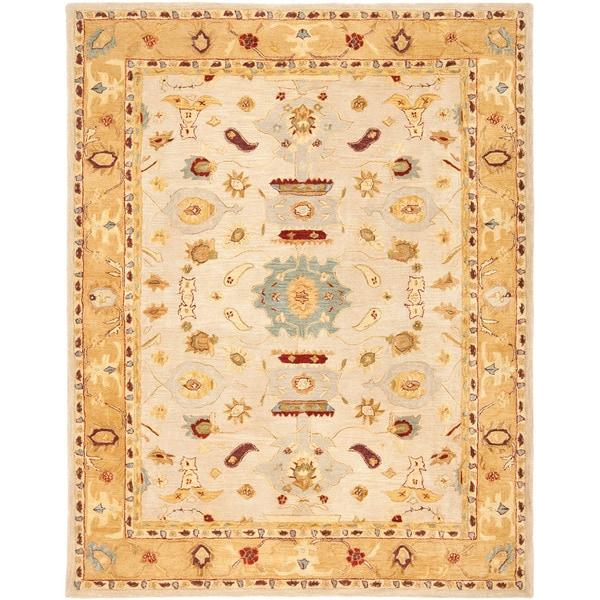 Safavieh Handmade Tribal Ivory/ Gold Wool Rug (9'6 x 13'6)