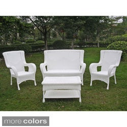 International Caravan San Tropez 4-piece Outdoor Seating Group