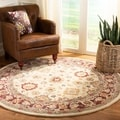 Handmade Heirloom Ivory Wool Rug (8&#39; Round)
