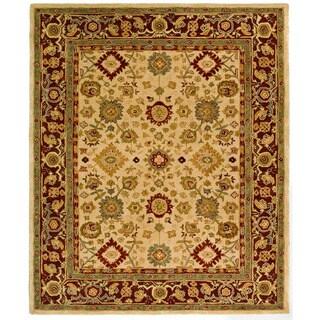 Safavieh Handmade Heirloom Ivory Wool Rug (9' x 12')
