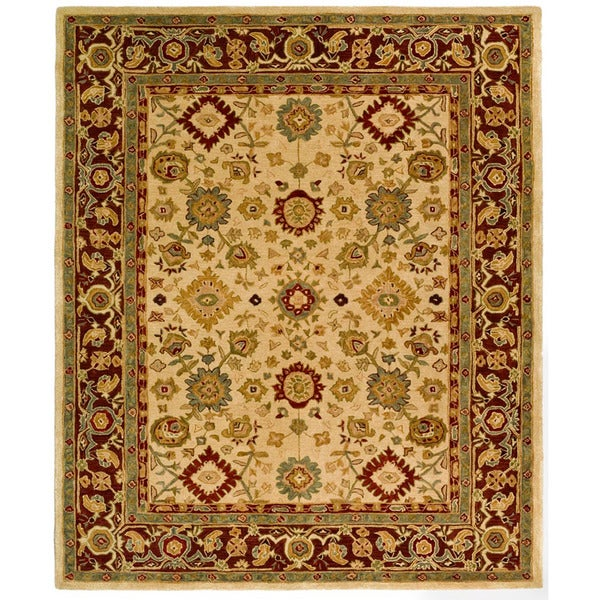 Safavieh Handmade Heirloom Ivory Wool Rug (9' x 12')
