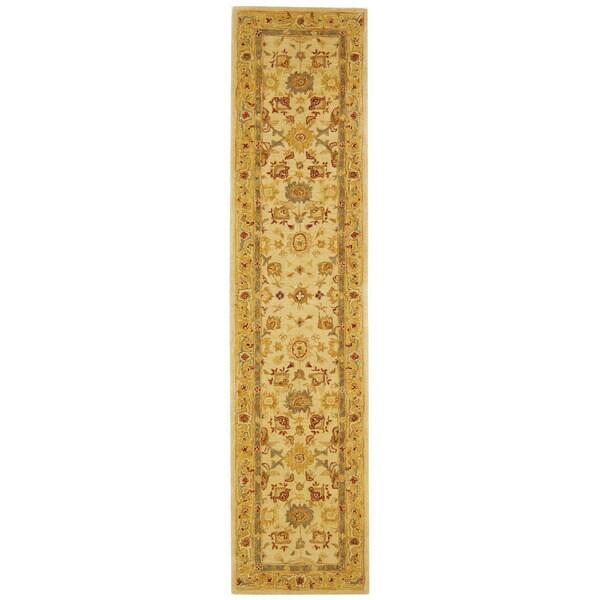 Safavieh Handmade Heirloom Ivory/ Gold Wool Runner (2'3 x 8')