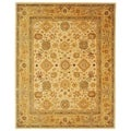 Handmade Heirloom Ivory/ Gold Wool Rug (9'6 x 13'6)