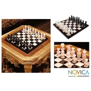 Onyx and Marble Chess Set, 'Classic'  (Mexico)