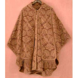 'Desert Bloom' Reversible Wool Ruana Cloak (Peru)