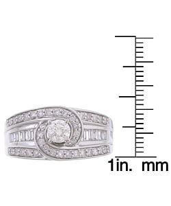 14k White Gold 1ct TDW Diamond Engagement Ring (G-H, I1-I2)