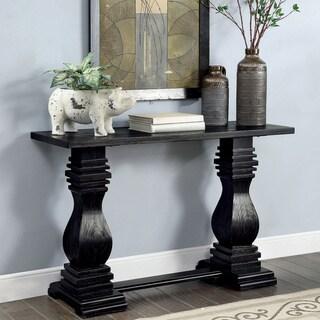 Gracewood Hollow Digish Antique Black Sofa Table