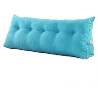 WOWMAX Bed Wedge Pillow Soft Triangle Cushion Headboard Upholstery Back Support Pillow