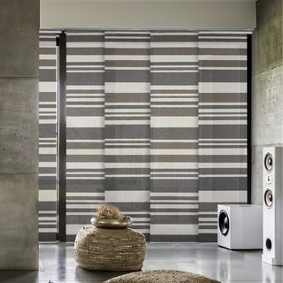 "GoDear Design Natural Woven Adjustable Sliding Panel, Barcode Series, 45.8""- 86"" W x 96"" L"
