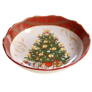 Certified International Vintage Santa Serving/Pasta Bowl