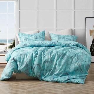 Brucht Designer Supersoft Oversized Comforter - Tribeca - Steel/Aqua