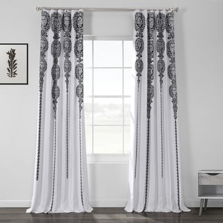 Exclusive Fabrics Cyprus Printed Linen Textured Blackout Curtain