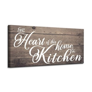 The Gray Barn 'Where the Heart is' Wrapped Canvas Kitchen Wall Art