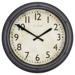 La Crosse Clock 404-2630 12 Inch Hudson Analog Quartz Clock