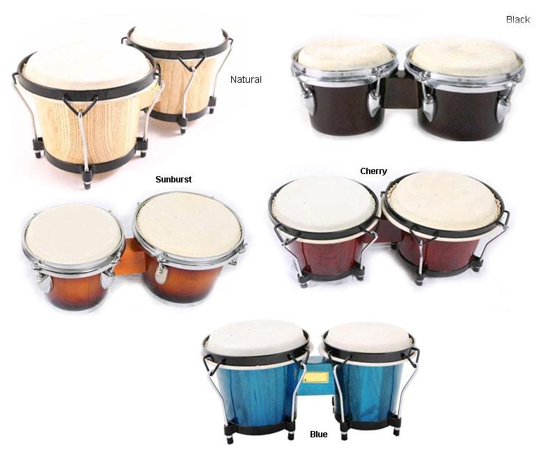 Solid Wood Bongo Drums