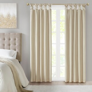 Madison Park Natalie Twist Tab Total Blackout Window Curtain 2-Color Option