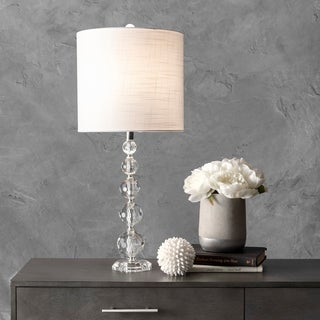 "nuLOOM 27"" Crystal Rain Drops Linen Shade Table Lamp"