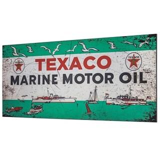 Texaco Marine Motor Oil Metal Sign Wall Decor