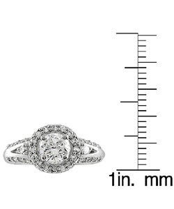 Tressa High-polish Sterling Silver Round-cut Cubic-zirconia Ring