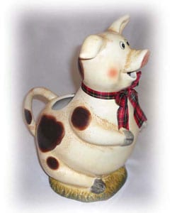 Happy Piggy Water Pitcher