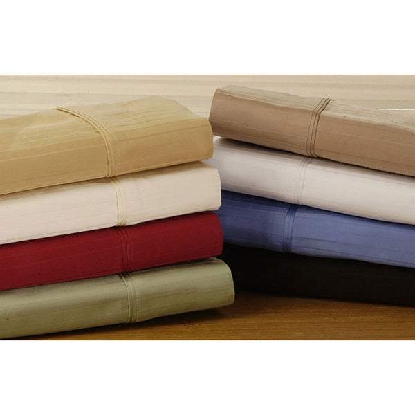 Egyptian Cotton 800 Thread Count Striped Pillowcase Set