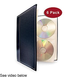 Large CD/ DVD Storage Binder System (Pack of 6)