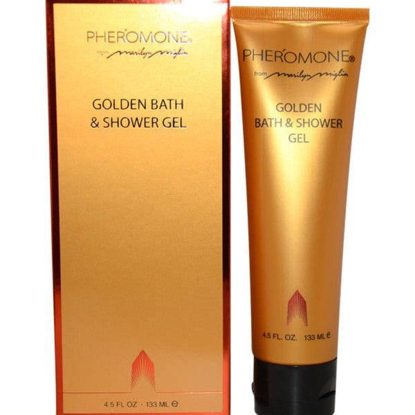 Pheromone Golden Bath & Shower Gel 4.5-oz for Women