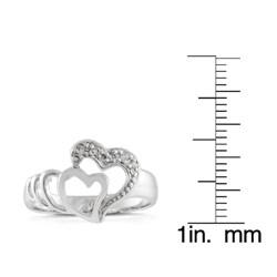 Tressa Sterling Silver Infinite Hearts CZ Fashion Ring