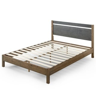 Priage by Zinus 12 Inch Two Tone Wood Platform Bed with Headboard
