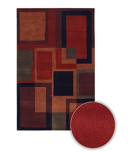 Hand-Tufted Contemporary Mandara Geometric Wool Rug (8' x 11')