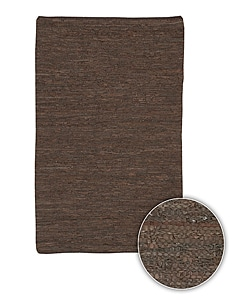 Hand-woven Mandara Transitional Leather Rug (5' x 7'6)