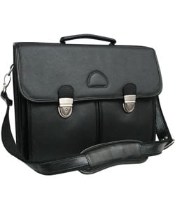 Amerileather World Class Black Leather Executive Briefcase