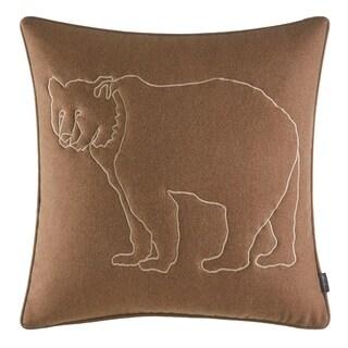 Eddie Bauer Bear Lines Brown Throw Pillow