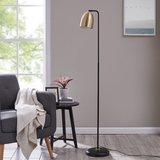 Strick & Bolton Jonesby Midcentury Modern Black Metal Floor Lamp