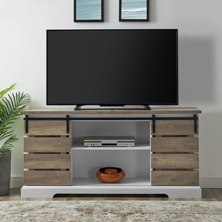 The Gray Barn Kujawa 58-inch Sliding Door TV Console