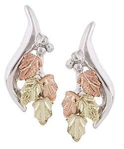 Black Hills Gold and Silver Earrings