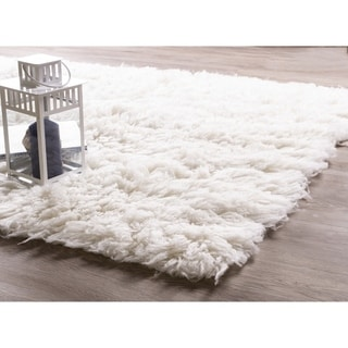 Porch & Den Merryman Greek Wool Flokati Shag Rug