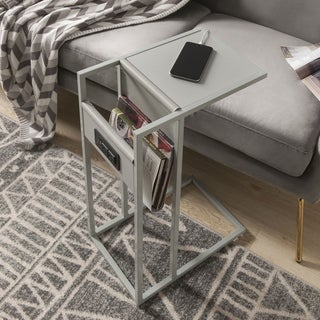 Carbon Loft Guerino C-table with USB Ports/Outlets and Magazine Storage
