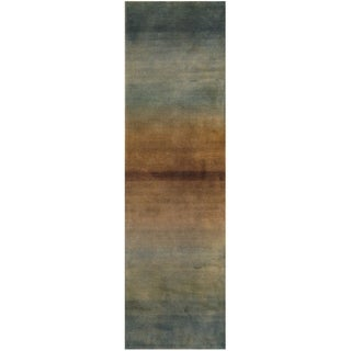 Handmade Tibetan Wool Runner (India) - 2'5 x 8'1