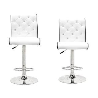 Best Master Furniture Stud Tufted Swivel Bar Stools (Set of 2)