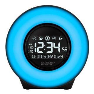 La Crosse Technology C83117 Color Mood Light Alarm Clock with Nature Sounds and USB