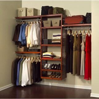 John Louis Deluxe Red Mahogany Closet System