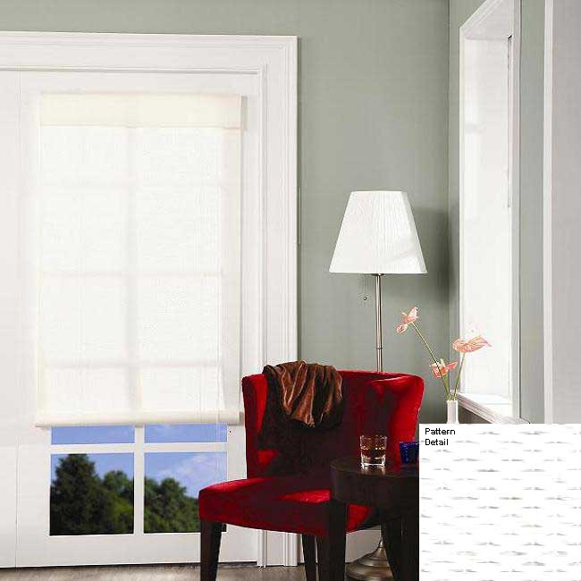 Kansas White Rollup Blind (48 x 72)