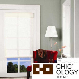 Chicology Kansas White Rollup Blind (60 x 72)